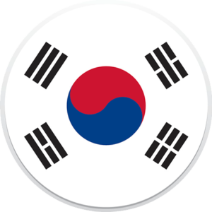 korea-flag-round